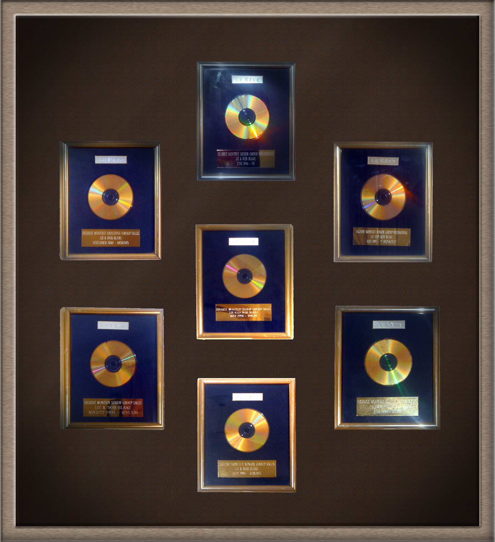 7 Gold Records - Personal & Team Performance